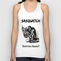 sasquatch Tank Tops featuring SaSQUATch by Is It Moist?