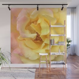 Summer Rose in Pink and Yellow Wall Mural