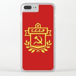 Communist Hammer Sickle Insignia Clear iPhone Case