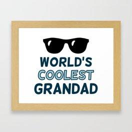 World's Coolest Grandad Framed Art Print