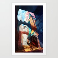 dragons Art Prints featuring Dragons by youcoucou