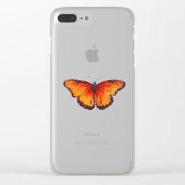 Sunset Fireflies Clear iPhone Case