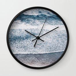 Rough Waters On Portugal Atlantic Coast Wall Clock