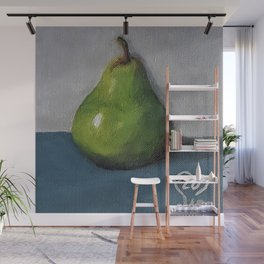 Pear, oil painting by Luna Smith, LuArt Gallery Wall Mural