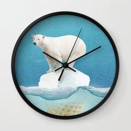 Polar ice cream cap Wall Clock