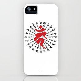 Fudo Myo-O Kahn Sanskrit character iPhone Case