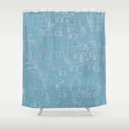 Global warming and animal migration 03 Shower Curtain
