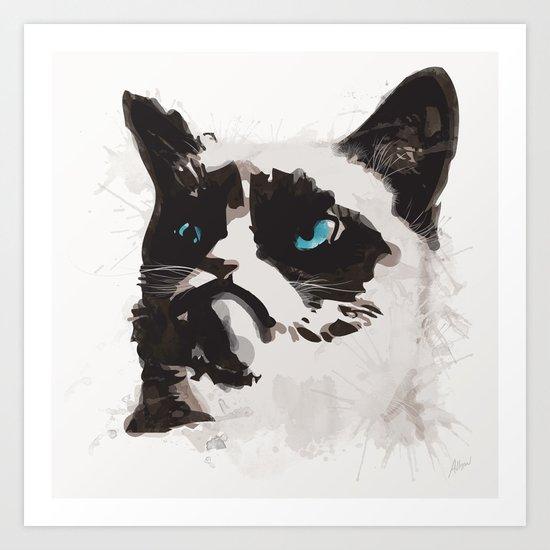Cat that's Grumpy Art Print