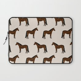 Bay Horse breed farm animal pet pattern horses Laptop Sleeve