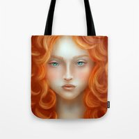 rebel Tote Bags featuring Rebel by Alexia Rose