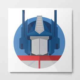 Optimus Prime Dots.  Metal Print