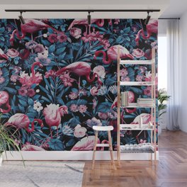 Floral and Flamingo VIII Wall Mural
