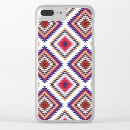 Aztec Rug Clear iPhone Case