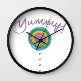 Yummy Loli Purp Wall Clock