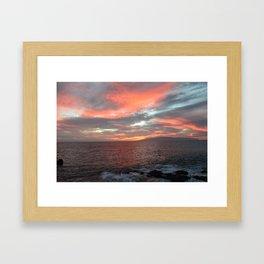 Cielo di fuoco. Framed Art Print