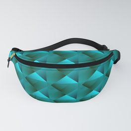 Optical pigtail rhombuses from light blue squares in the dark. Fanny Pack