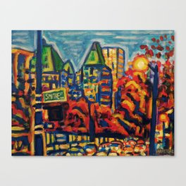 Southbound City Traffic, Vancouver Canvas Print