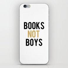 Books not boys - Gold iPhone & iPod Skin