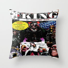 """Code Name: King""  - Comic Book Promo Poster  Throw Pillow"