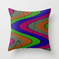 70s Throw Pillows featuring 70s Baby by Sha Mitchell