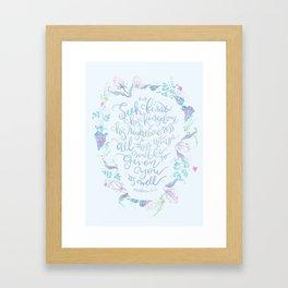 Seek First His Kingdom - Matthew 6:33 Framed Art Print