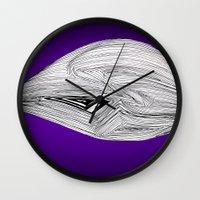 spaceship Wall Clocks featuring Spaceship by Ajinkya Pawar