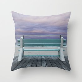 Jersey Shore Bench Throw Pillow