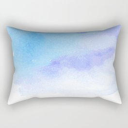 Blue ink in Water. Blue and Purple watercolour. Rectangular Pillow