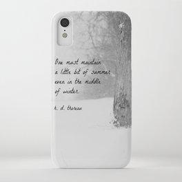 Thoreau Quote Winter iPhone Case