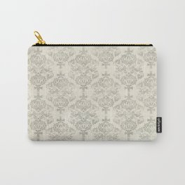 Beige Watercolor Damask Pattern Carry-All Pouch