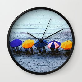Myrtle Beach Umbrellas Wall Clock