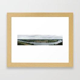 Panorama of Danube, Germany Framed Art Print