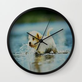 Splish - Splash, puddles are fun Wall Clock