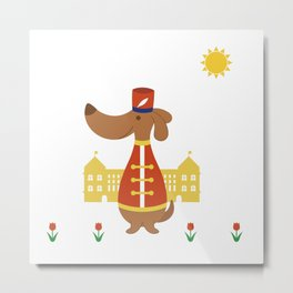 Royal Guard Dog Metal Print