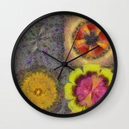 Tafwiz In The Altogether Flower  ID:16165-044136-98450 Wall Clock