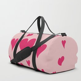 Imperfect Hearts - Pink/Pink Duffle Bag
