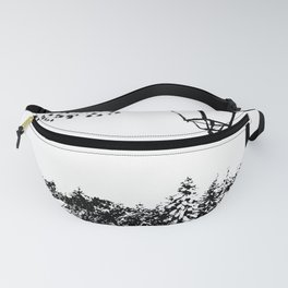 Lantern in the snow Fanny Pack