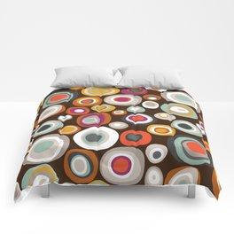 veneto boho spot chocolate Comforters