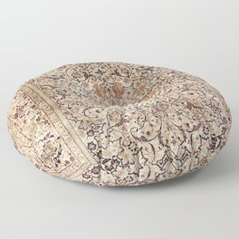 Silk Esfahan Persian Carpet Print Floor Pillow