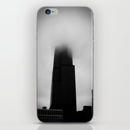 Sears Tower in Fog Chicago Black and White Photo iPhone Skin