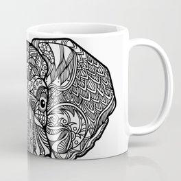 elephant indian henna Coffee Mug