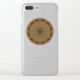 Patchwork Pattern Clear iPhone Case
