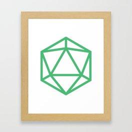 D20- Ranger Green Framed Art Print