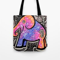 eddie vedder Tote Bags featuring Eddie by Luciana Pupo