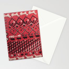 V22 Sheep herd Design Traditional Moroccan Carpet Texture. Stationery Cards