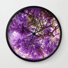 Jacaranda Blossoms Wall Clock