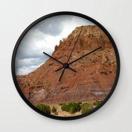 Buttes of New Mexico - On the Road to Santa Fe, No. 1 Wall Clock