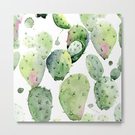 Cactus commotion Metal Print