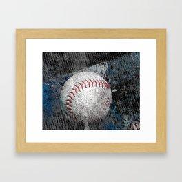 Baseball print work vs 1 Framed Art Print
