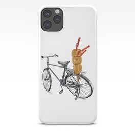 Watercolor Illustration of Traditional Chinese Snack - Candy Tanghulu on Bicycle | 冰糖葫芦 iPhone Case